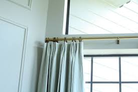 Antique Brass Curtain Rods Linen Curtains In The Library And A Loom Decor Give Away
