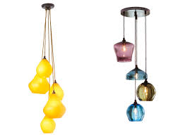 Colored Glass Pendant Lights Acid Drops Pendant Left And Glass Pendants Right By Curiousa
