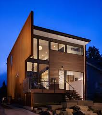 shipping container house ideas exterior modern with dark stained