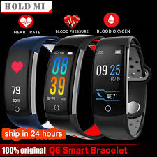 bracelet sleep tracker images Hold mi q6 fitness tracker smart bracelet hr fitness bracelet jpg