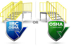 Difference Between Banister And Balustrade The Difference Between Ibc And Osha Stairs Erectastep