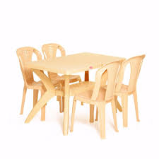 table and chairs plastic varmora premium savor dinning set with netted chairs 1 4 homegenic