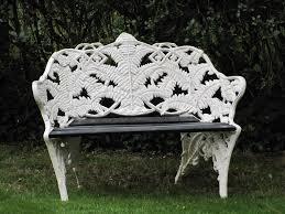 fern coalbrookdale victorian style cast iron u0026 wood white garden
