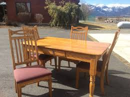 lexington american country west keeping table dining solid oak