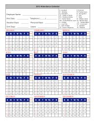 absence bureau outlook printable attendance calendar 2016 employee attendance calendar