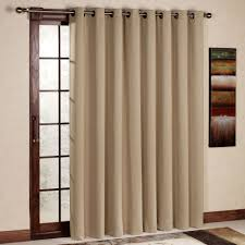Curtains With Rods On Top And Bottom Rod Pocket Door Panel Curtain Brown Patio Doors And Pocket Doors