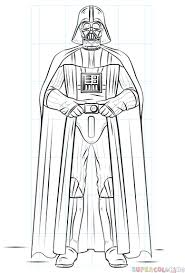 How To Draw Darth Vader Step By Step Drawing Tutorials Darth Vader Coloring Pages