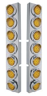 kenworth accessories store kenworth front air cleaner kit with 14 reflector led lights