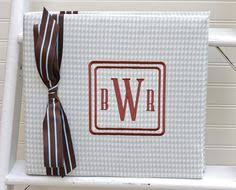 monogrammed scrapbook for the home monogrammed trash cans tissue box covers and