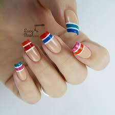 colour block tip nail art with rimmel london rita ora line