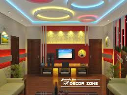 Fall Ceiling Design For Living Room Living Room False Ceiling Designs Colorful Pop Circles Dma Homes