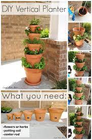 diy vertical planter herbs garden planters and herbs