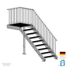 platzbedarf treppe aussentreppe für 180 cm an schmalen eingänge mit wenig platzbedarf