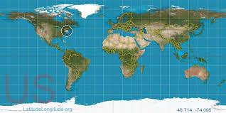 united states map with longitude and latitude cities new york city latitude longitude