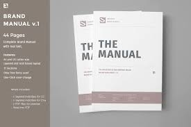 brand manual brochure templates creative market