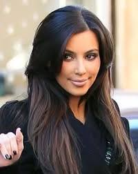 hair highlights bottom kim kardashian s ever changing do blonde streaks using clip in
