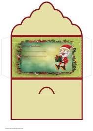 christmas gift wallet template design idea of chrismas