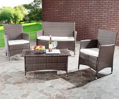 creative white wicker patio chairs with seat cushion from square