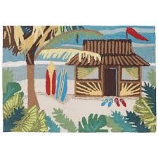 Outdoor Mats Rugs Tiki Hut Indoor Outdoor Rug