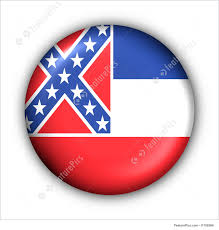 State Flags Of Usa Flags Round Button Usa State Flag Of Mississippi Stock Photo