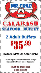 Seafood Buffets In Myrtle Beach Sc by Coupons Www Mistercrab Net
