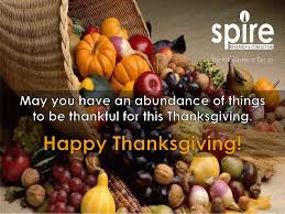 spire wishes everyone a happy thanksgiving