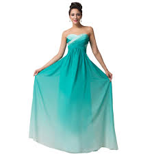 wholesale grace karin design a line green red blue ombre evening