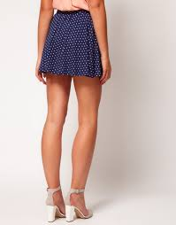Zulily Clothes And Shoes Asos Collection Asos Skater Skirt In Spot In Blue Lyst