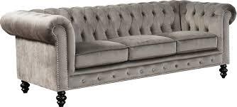 grey chesterfield sofa world menagerie kashvi chesterfield sofa u0026 reviews wayfair