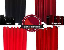 Burgundy Velvet Curtains Velvet Curtain Panel Etsy