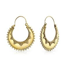 hoop earrings gold indian style gold plated bali hoop earrings
