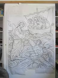 the making of christ pulling peter from the water