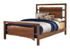 Solid Walnut Bedroom Furniture solid walnut bed with live edge headboard and footboard panels
