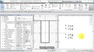 revit basics 03 revit file extensions youtube
