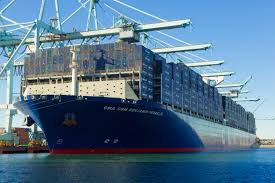 the biggest container ship ever to dock in the u s is arriving soon