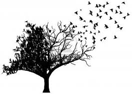 collection of 25 birds on leafless tree tattoos