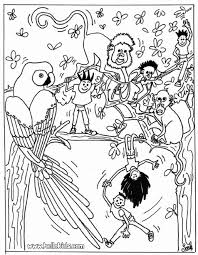 forest coloring sheet kids coloring