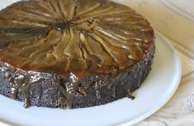 pear gingerbread upside down cake the conscious kitchen
