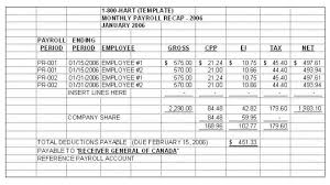 basic excel employee payroll spreadsheet table and template sample
