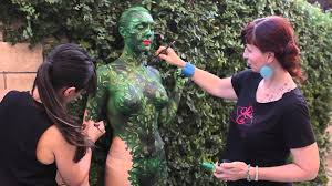 ivy camouflage blend body paint skin city body painting youtube