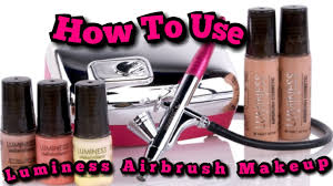 how to use luminess airbrush makeup review youtube