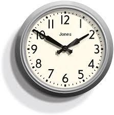 jones apollo wall clock overcoat grey jones amazon co uk