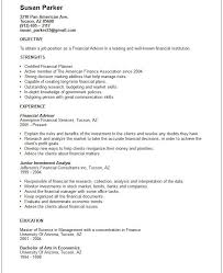 Sample Resume For Financial Analyst by Resume Financial Advisor Example Financial Aid Advisor Resume