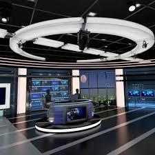 3d model tv virtual stage news studio 3d virtual stage tv studio