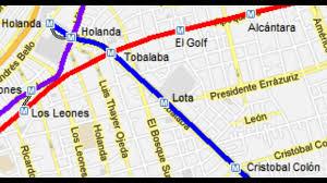 Santiago Metro Map by