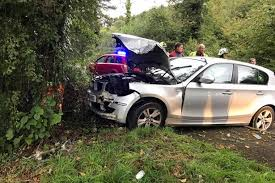 bmw hospital bodmin taken to hospital after bmw comes the road on a38