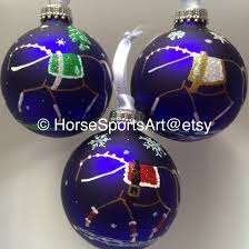 equestrian vaulting horse hand painted christmas ornaments in