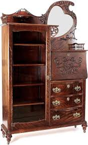 high quality antique bookcase desk combo