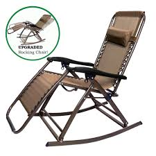 Patio Folding Chair Partysaving Infinity Zero Gravity Rocking Chair Outdoor Lounge