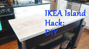diy ikea kitchen island ikea island top hack diy